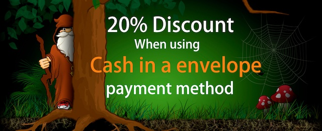 cash in envelope discount