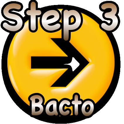 Step 3 Sannie bacto