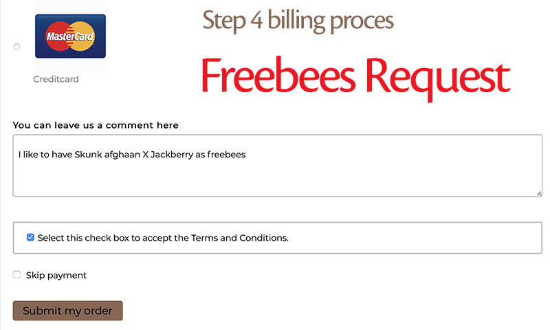 Explanation how to get freebees along with your seed order