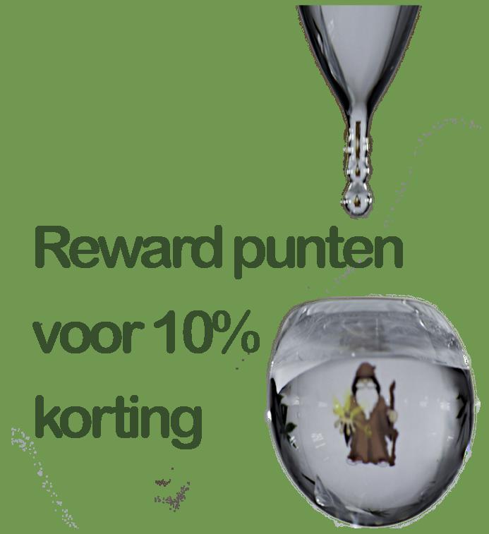 Reward punten systeem voor een extra 10 % korting