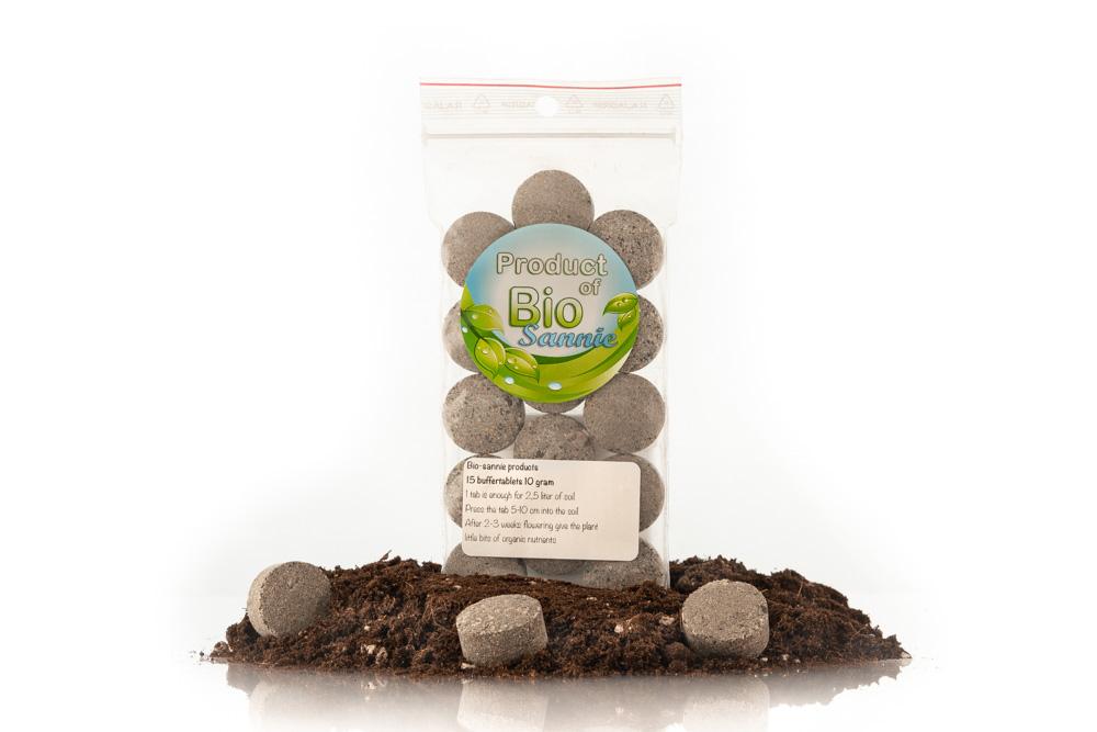 Buffer tabletten van 10 gram voor de buffering van je aarde en stimuleren van het bodem laven