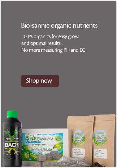Bio-sannie cannabis voeding en organische aarde verbeteraars